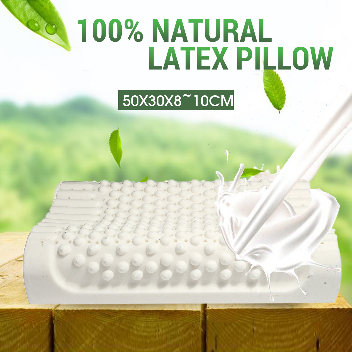 100% Natural Standard Latex Pillow comfort for Neck Pain and Fatigue Relief