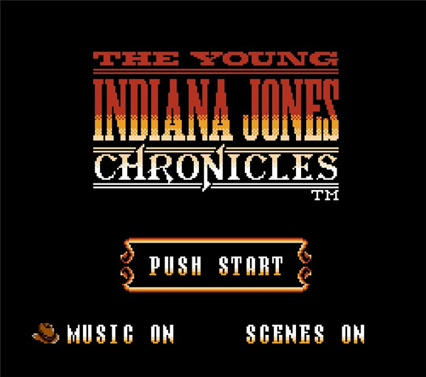 The Young Indiana Jones Chronicles 72 Pin 8 Bit Game Card Cartridge for NES Nintendo