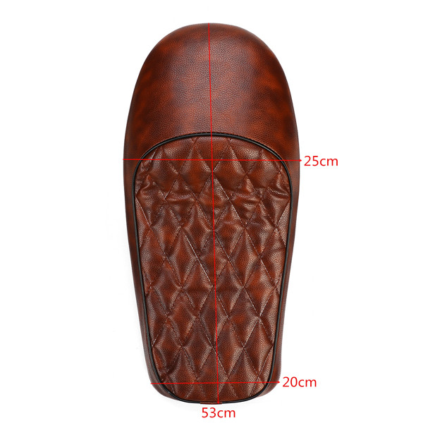 Universal Motorcycle Hump Saddle Cafe Racer Vintage Tracker Cushion Seat Brown