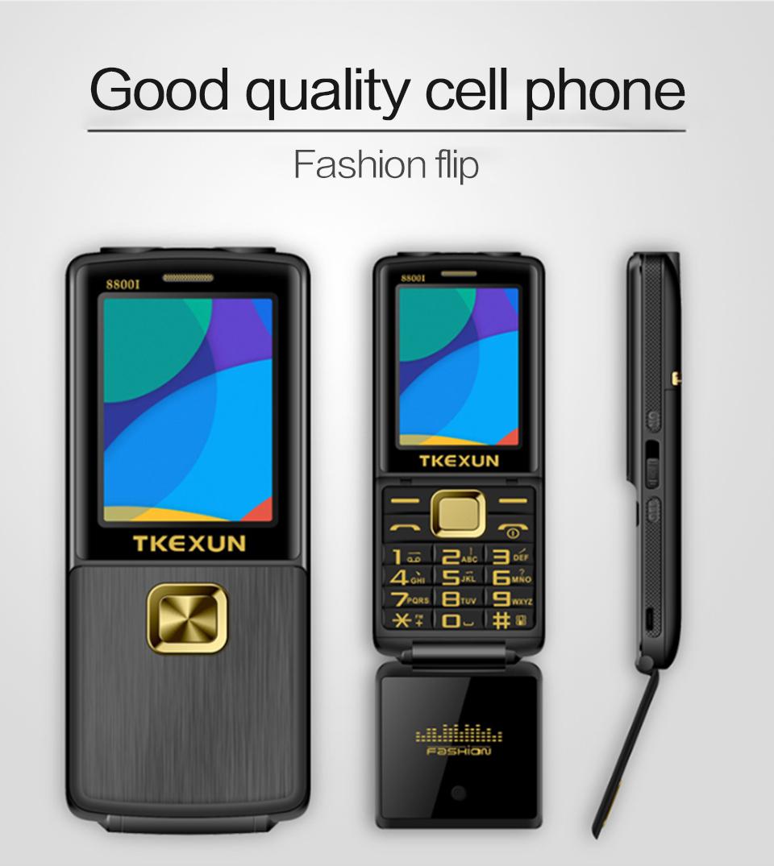 TKEXUN 8800i 2.8'' 1800mAh Whatsapp bluetooth Dual Flashlight Dual Sim Flip Metal Feature Phone
