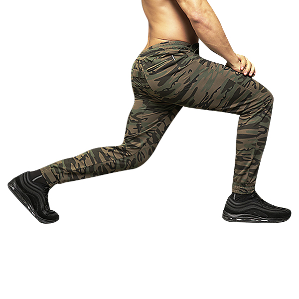 Mens Fashion Camo Compression Sports Pants