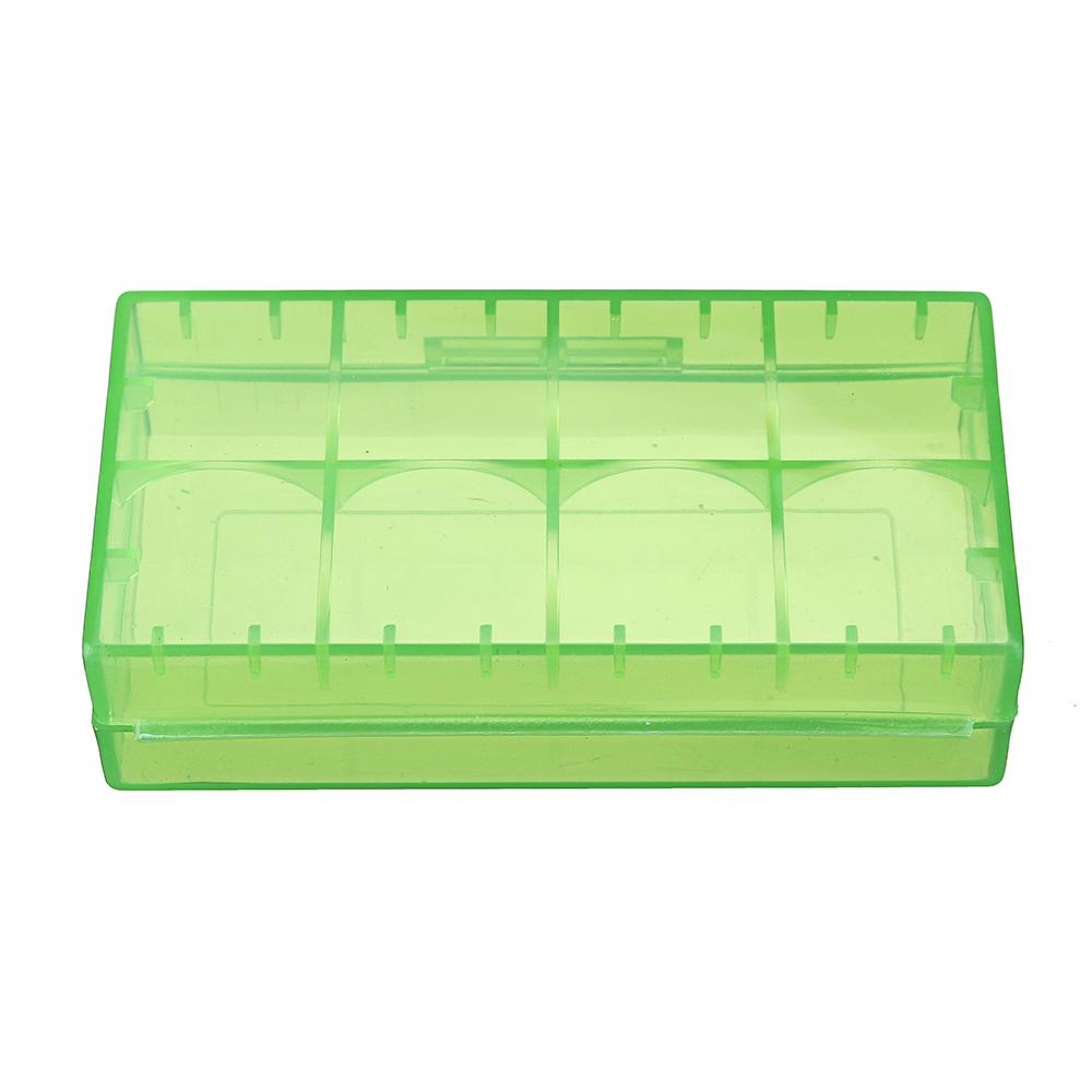 10 stk 18650 x 2 Sot plast batterisett Batterier Deksel Spare Carrier Holder Oppbevaringsboks CR123A 16340 R123A 17670 4x Cell 18350 Container