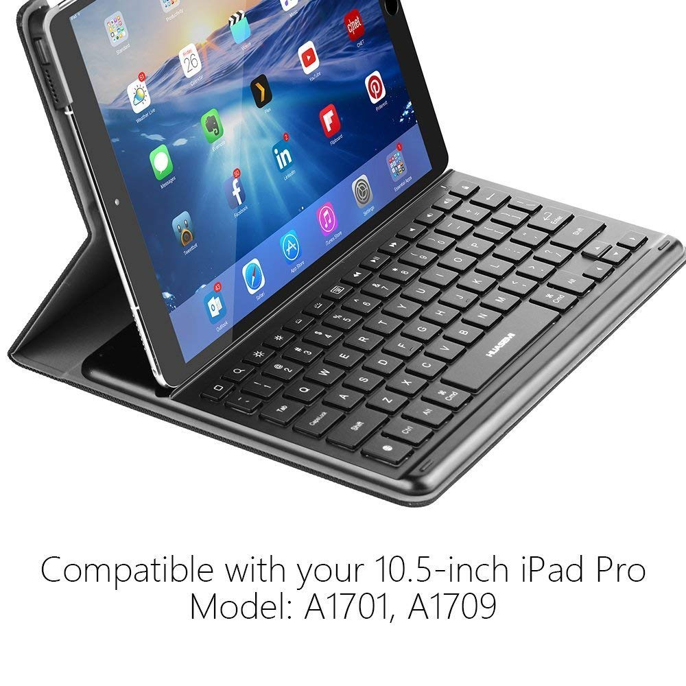 Smart Backlit Keyboard With Intelligent Connector For iPad Pro 10.5