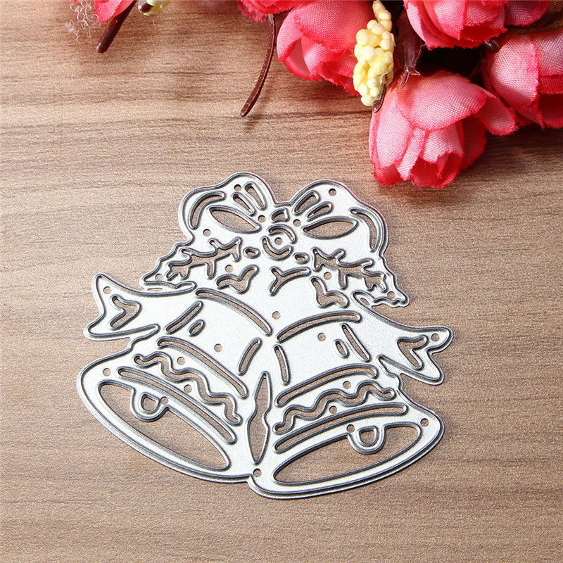 christmas bell metal die cutting stencil template diy s for sale