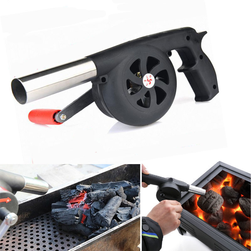 Outdoor Camping BBQ Grill Fan Air Blower Picnic Barbecu