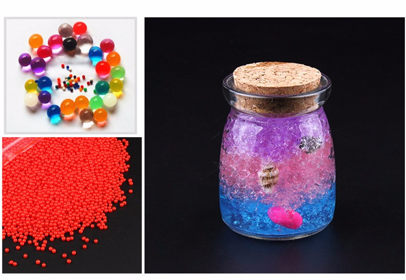 Magic Water Beads Balls DIY Ocean In A Bottle Colorful Sea Bottle Grow In Water Toy Home Office Decor