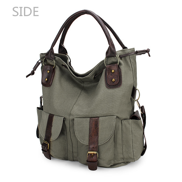 Women Casual Canvas Drawstring Handbag