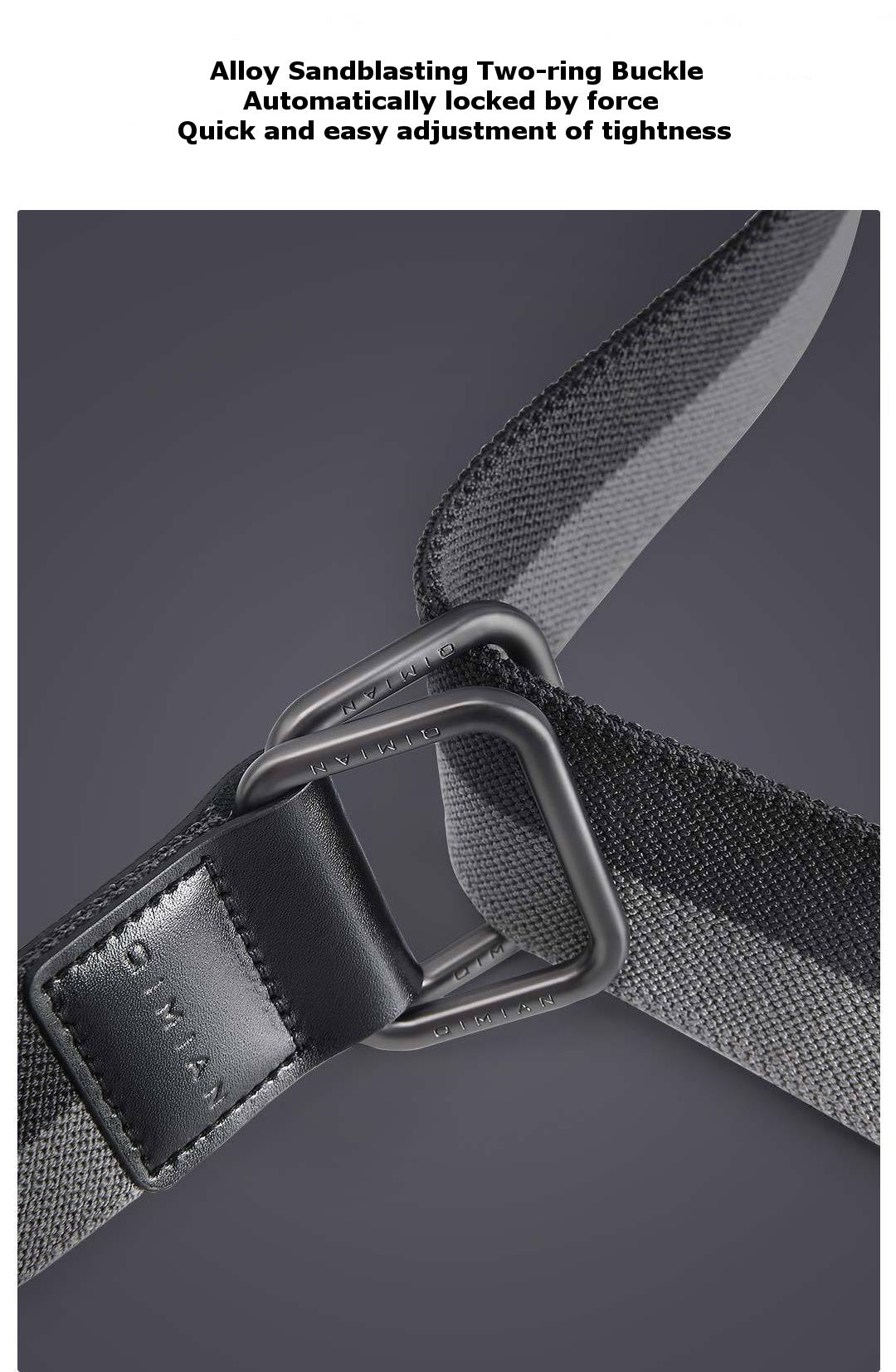 QIMIAN 110-130cm 3.8cm Width Quick Release Buckle Elastic Fabric Sports Leisure Tactical Belt From Xiaomi Youpin