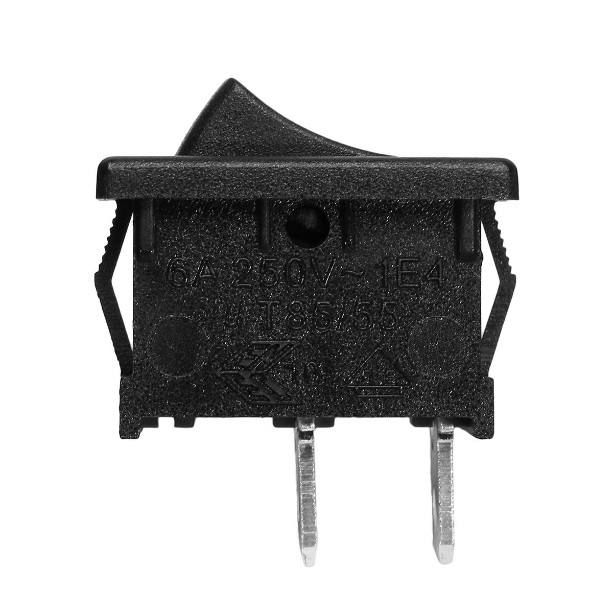 250V 6A 2Pin Mini Rocker Switch With Dot Mini Power Switch ON-OFF