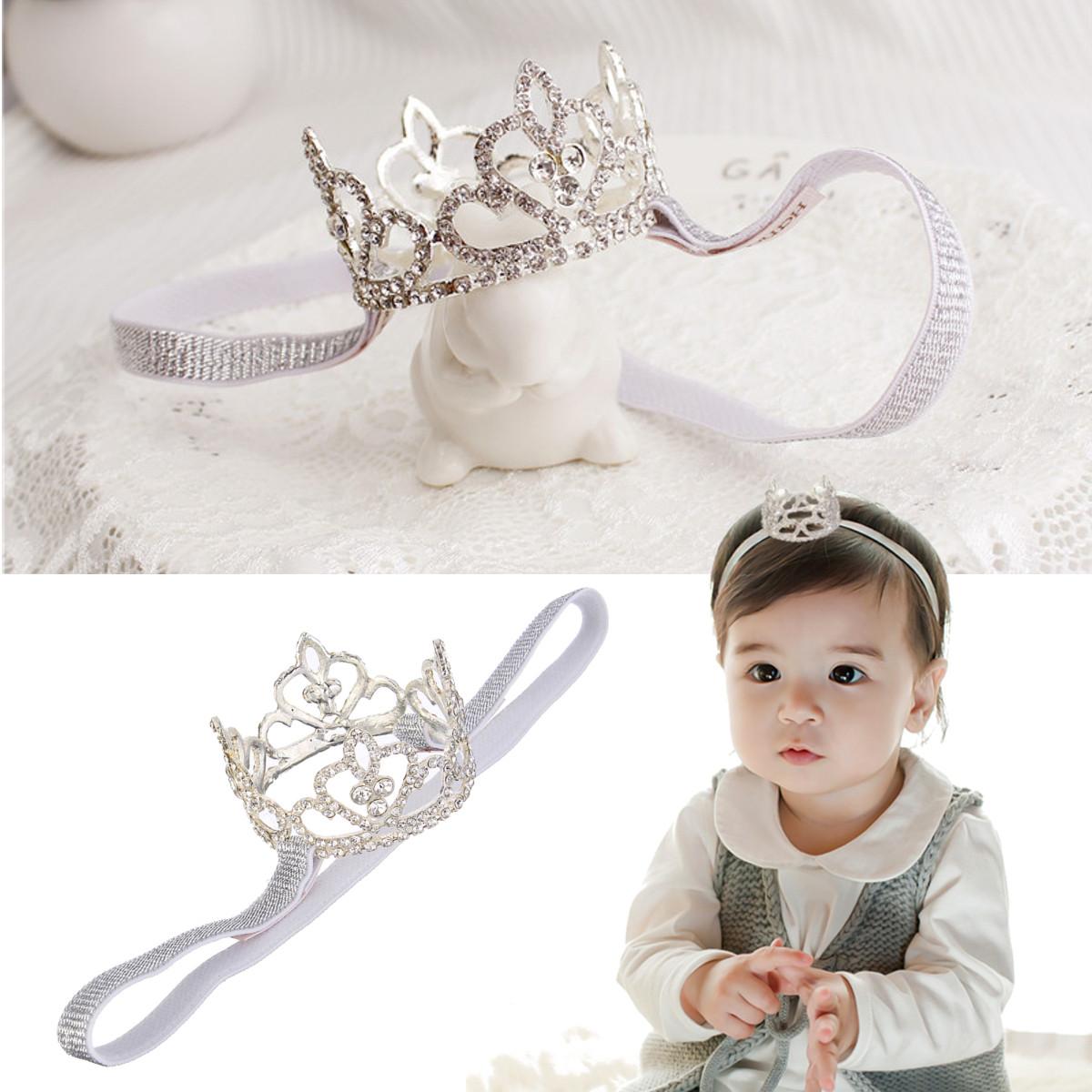 Toddler Baby Rhinestone Crown Headbrands girls Princess Tiara Photography Props