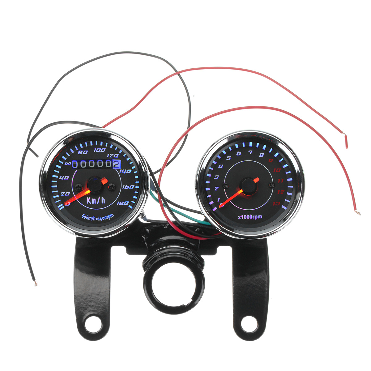 0-180km/h 12V Universal Motorcycle Bike LED Odometer Sp