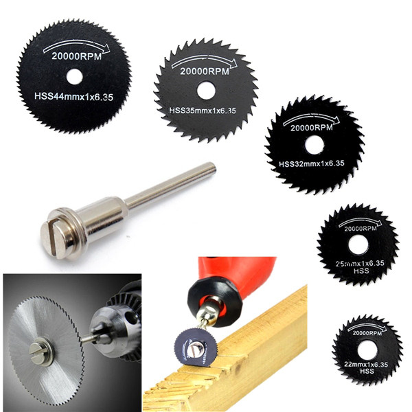 6pcs Metal HSS Circular Saw Blade Set Cutting Discs for Rotary Tool