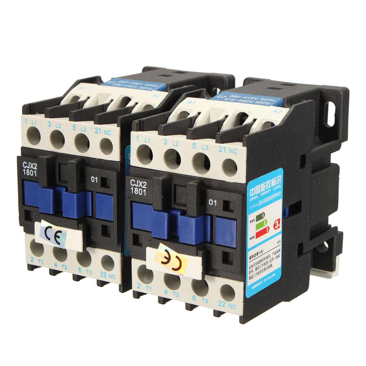 CJX2-1801 AC 220V/380V 18A Contactor Motor Starter Rela