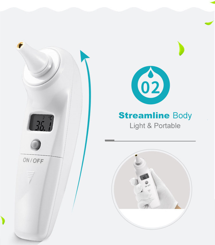 Loskii YI-100B Digital Baby Infrared Ear Thermometer Electronic Body Thermometer for Baby Kids Adults Elders