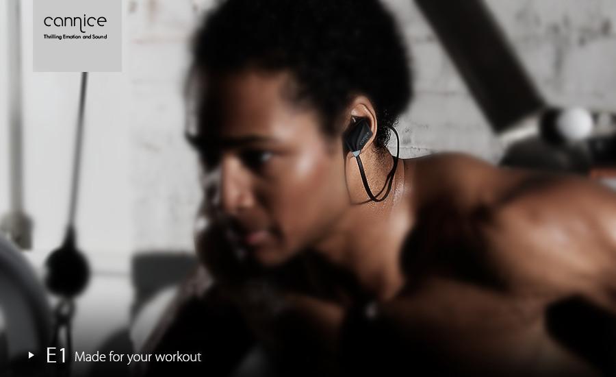Cannice E1 Sport Incoming Call Vibration Light Weight Wireless bluetooth 4.1 Headphone Earphone