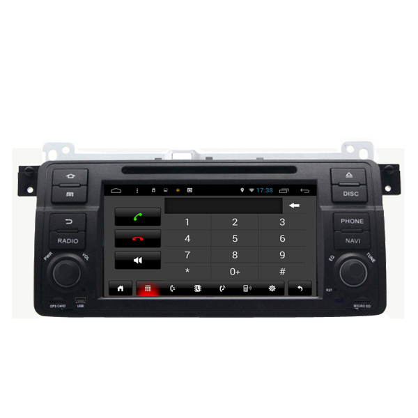 SA-710 Car DVD MP3 MP4 Player FM AUX in Android Capacitive Touch Screen for BMW 3 Series E46