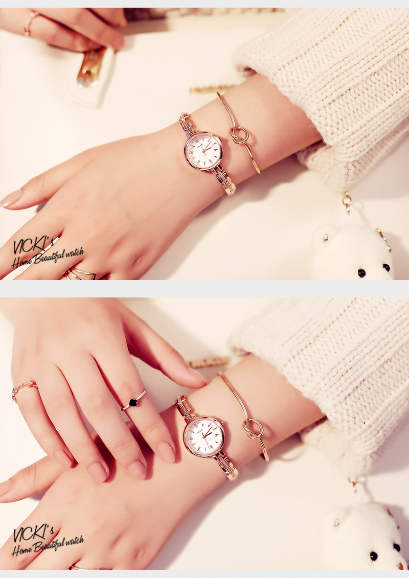 Fashion Style Elegant Stainless Steel Strap Women Quartz Watch Ladies Bracelet Watch