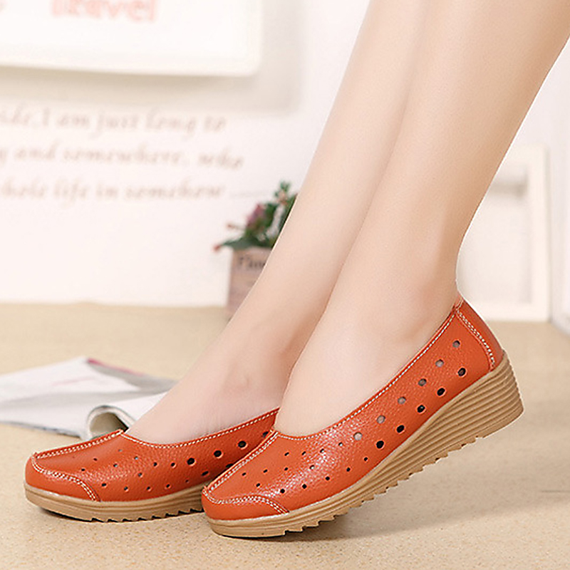Women Casual Comfortable Hollow Out Flats Shoes