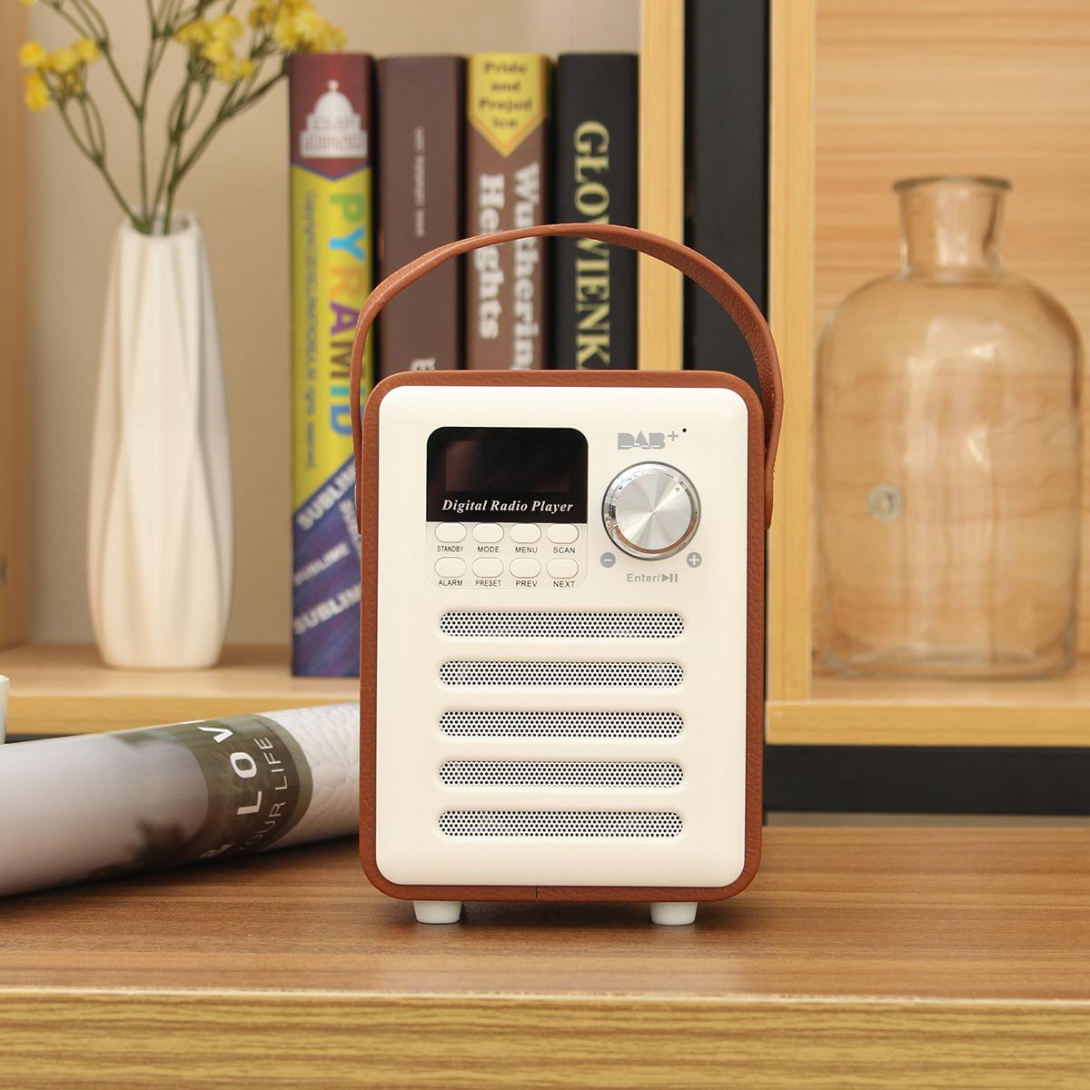 DAB Digital FM Radio bluetooth Stereo Heavy Bass Speaker TF Card AUX MP3 Player Alarm Clock