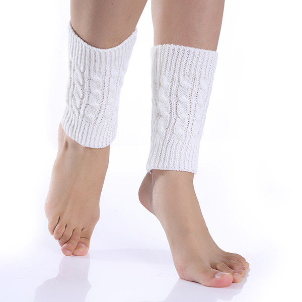 Women Crochet Knitted Leg Warmers Winter Warm Boot Cuffs Warmers