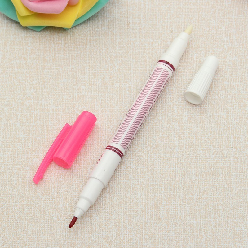 Double Head Air Water Erasable Pen Fabric Marker Water Soluble Automatically Disappear Pen Sewing Tool