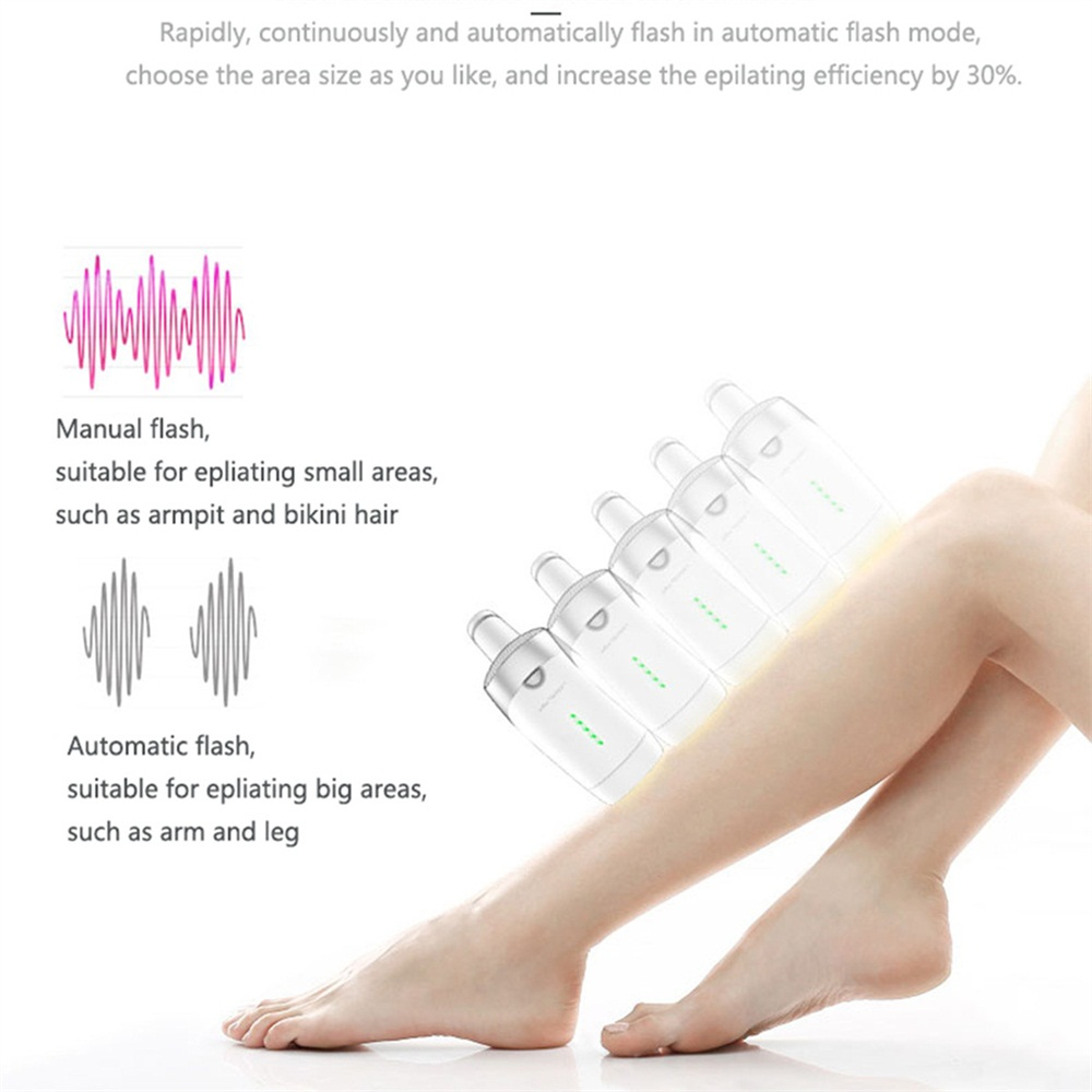 300,000 Pulses IPL Laser Permanent Epilator Hair Removal