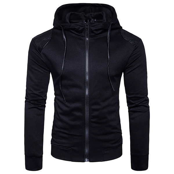 Autumn Winter Mens Fashion Hoodies Ultra-thin Jackets Zippers Hoodies Tops Sports Casual Sportswear