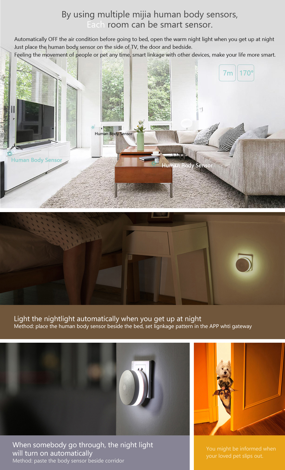 Original Xiaomi Mijia IR Intelligent Human Body Sensor Smart Home Suit Kit