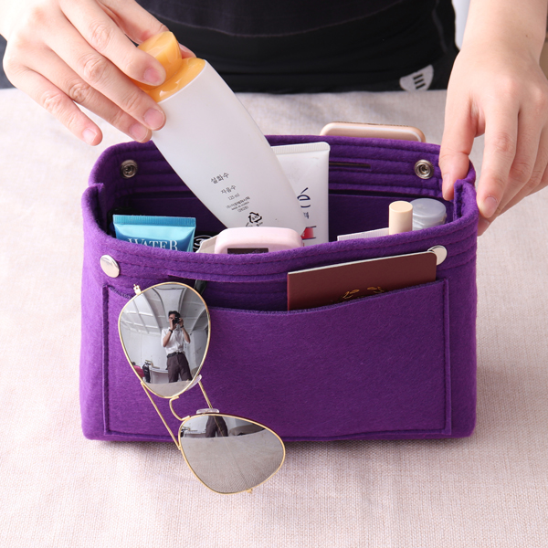 Women Felt Home Storage Bag Travel Toiletry Bag Inner Bag