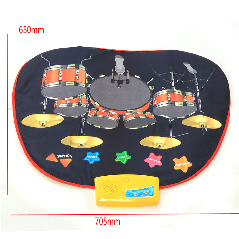 Floor Playmat Childrens Electronic Drum Portable Kit Educatin Musical Toy