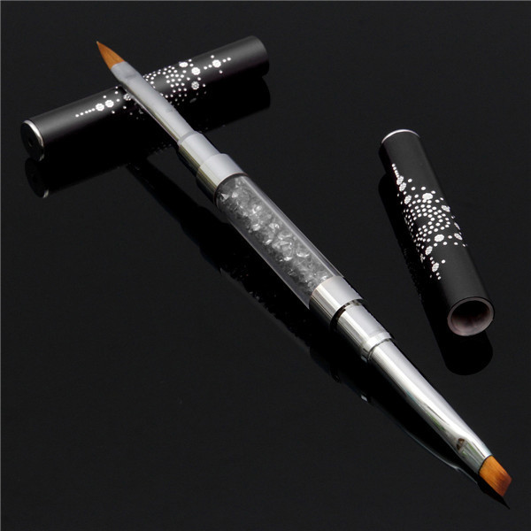 Dual-head Acrylic French Nail Art UV Gel Brush DIY Painting False Tips Pen Manicure Tools 3 Colors