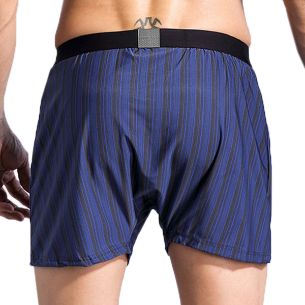Mens Vertical Striped Printing Arrow Shorts Casual Home Bamboo Fiber Breathable Wicking Boxers