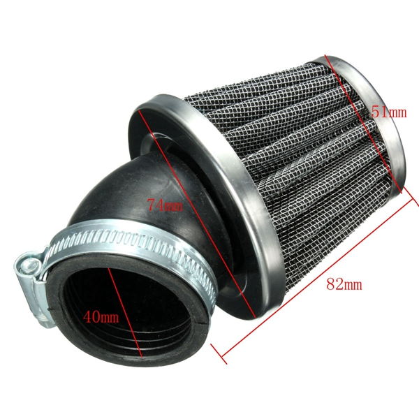 40mm 45 Degree Air Filter Black For 50cc 110cc 125cc 140cc Pit Dirt Bike Motor Bike
