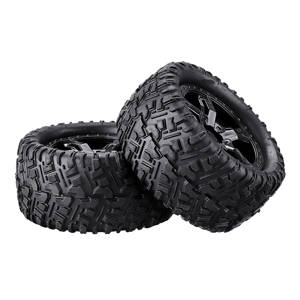 Remo P6973 Rubber RC Car Tires For 1621 1625 1631 1635 1651 1655 RC Vehicle Models - Photo: 3