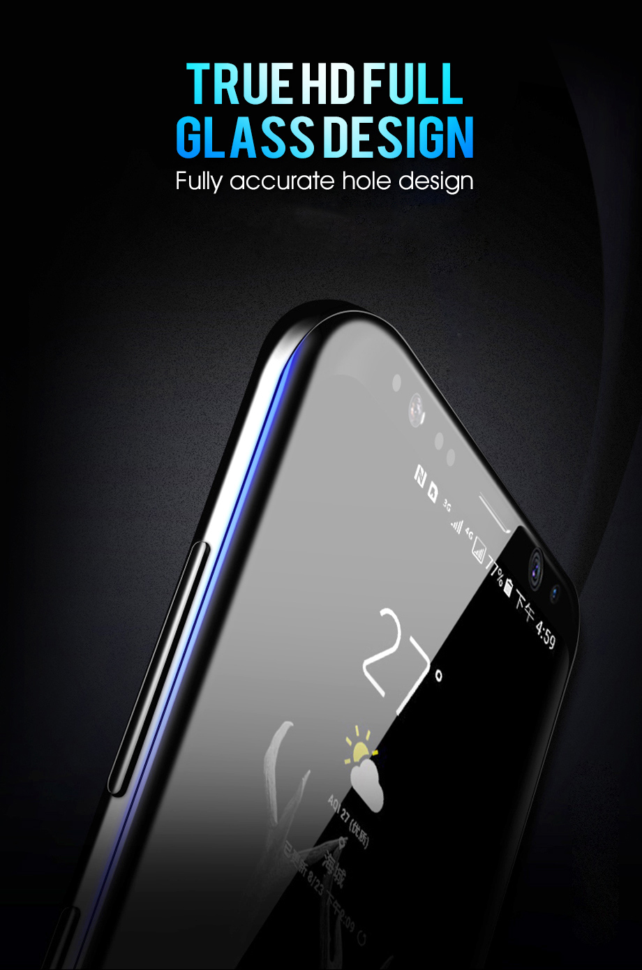 Bakeey Full Adhesive 3D Curved Edge Case Friendly Tempered Glass Screen Protector For Samsung Galaxy Note 9