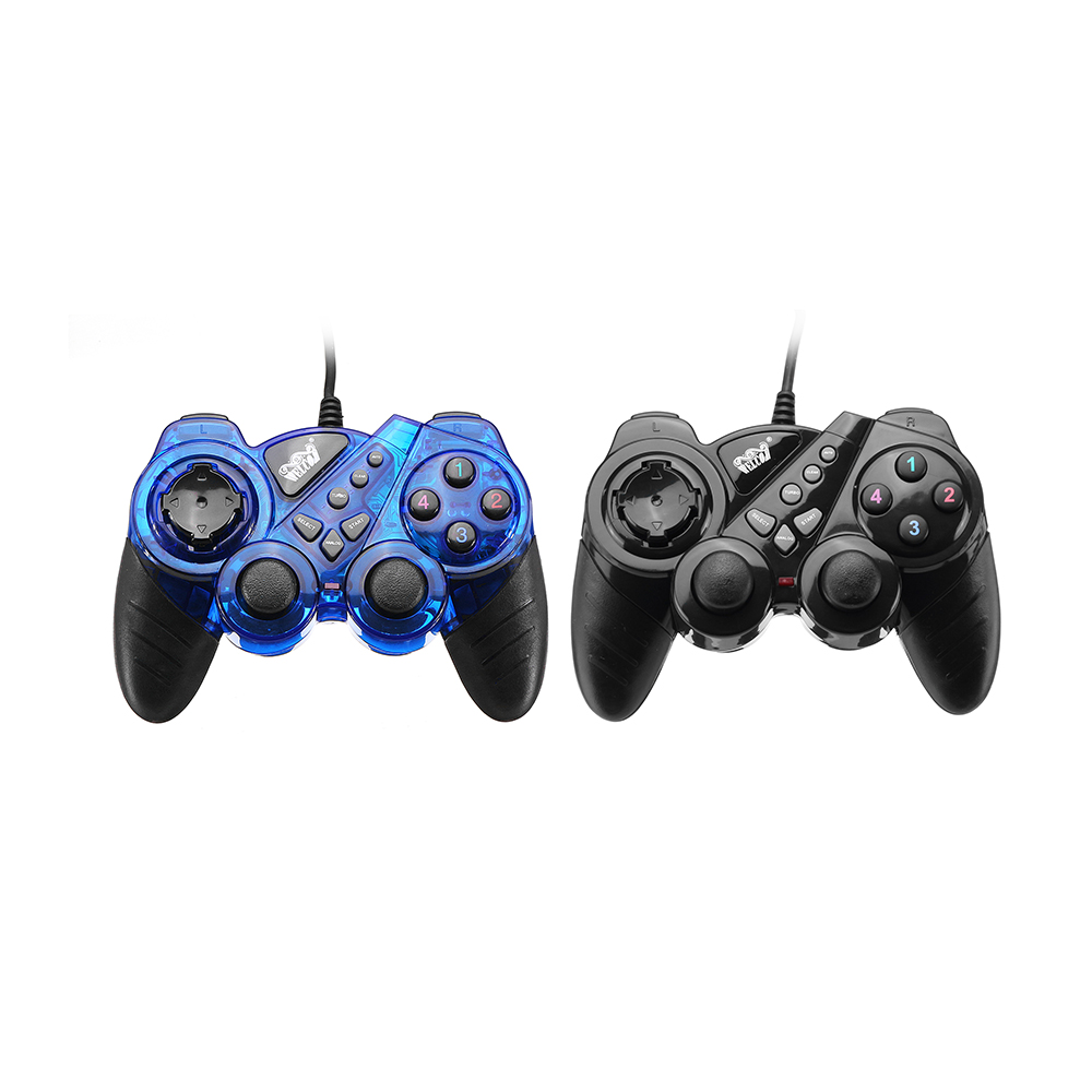 Welcom WE-860S USB Wired Joystick Dual Vibration Turbo Gamepad for Windows PC
