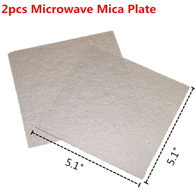 2pcs 5.1x5.1Inch Microwave Mica Plate Microwave Common Accessories