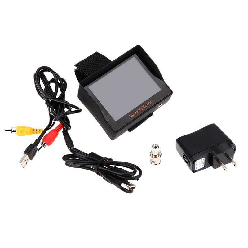 New Surveillance Audio Video Input 3.5inch TFT Color LED Portable Test Monitor CCTV Camera Security Tester