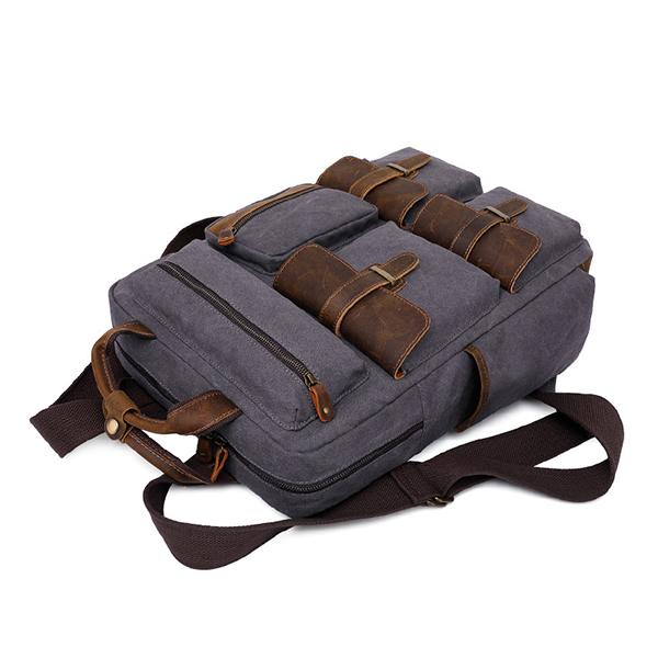 Men Retro Canvas Waterproof Travel Large Capacity Bag
