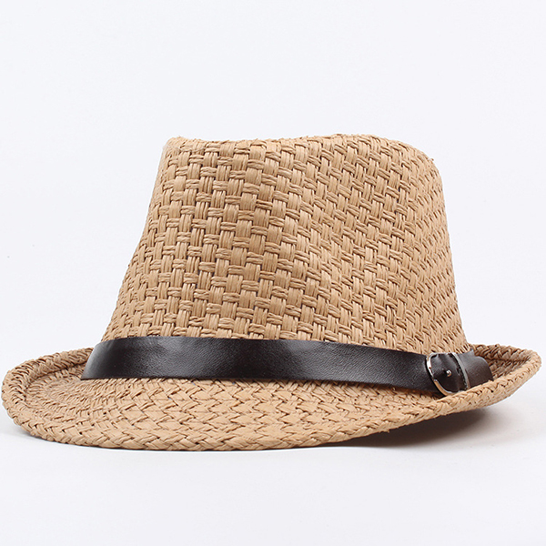 Men Women Classic Wide Brim Sunshade Cowboy Straw Hat