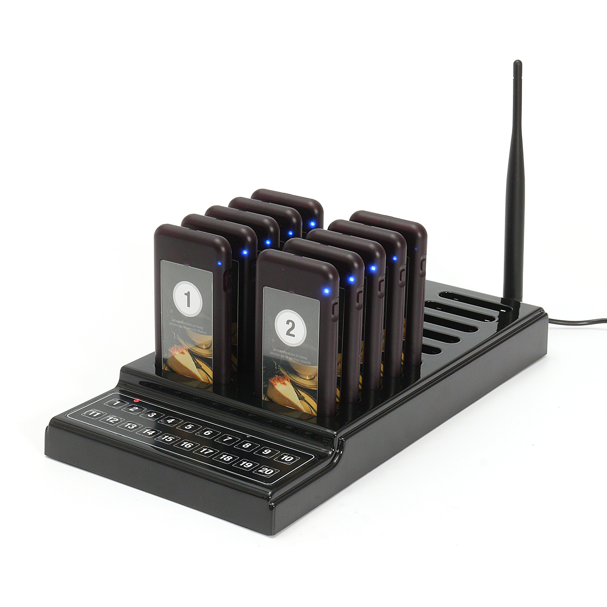 DC 5V Wireless Restaurant Coaster Pagers Guest Waiter Call Paging Queuing System