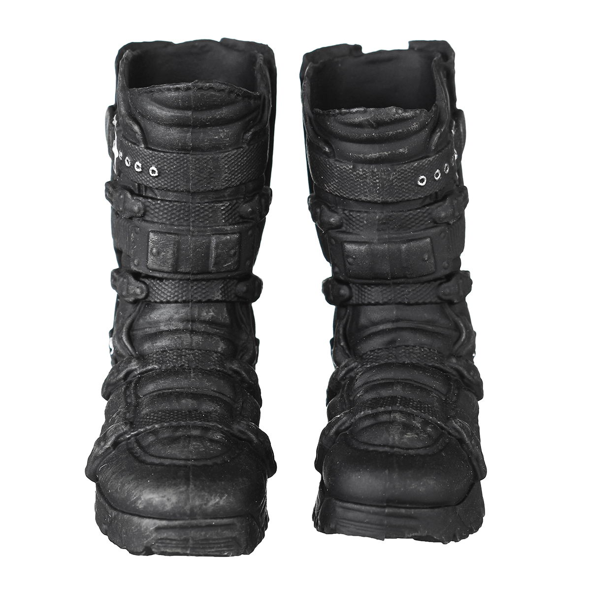 1/6 Scale Male Solid Boots Action Figure Falcon Combat Shoes Black For Doll