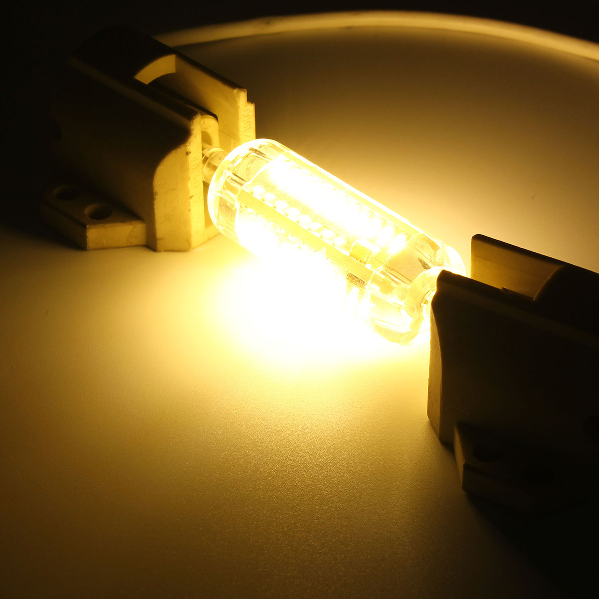 R7S 78MM 5W 76 SMD 4014 LED Pure White Warm White Light Lamp Bulb AC110V