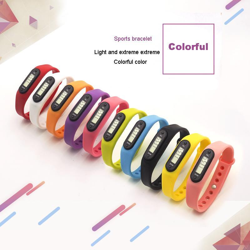 BIKIGHT Hand Ring Pedometer LCD Pedometer Smart Health Bracelet Sleep Sport Pedometer Wristband