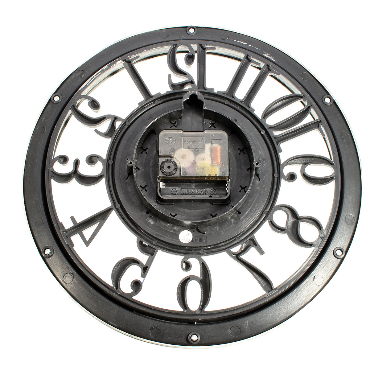 European Vintage Retro Living Room Wall Clock Mute Quartz Watches Home Wall Decor Gift