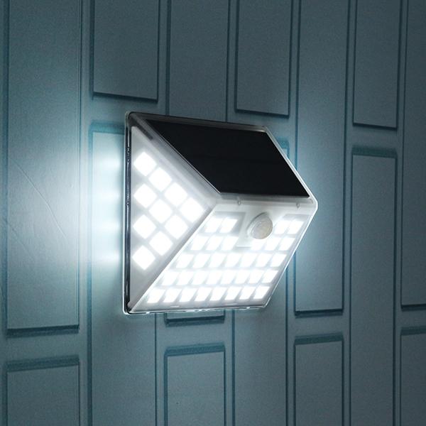 Solar Powered 53LED PIR Motion Sensor Wall Lights Outdoor Waterproof Security Lamp for Garden Path