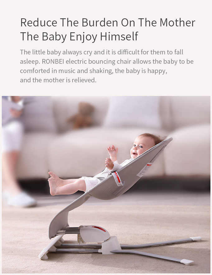 RONBEI BY032 Baby Multifunctional Bouncing Chair Intelligent Motion Control Timing Control Folding Chair From Xiaomi Youpin