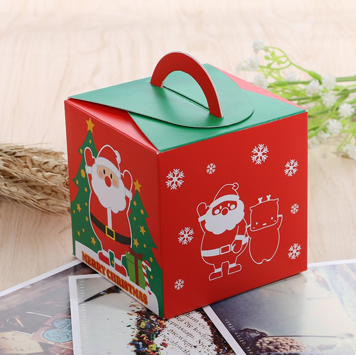 Christmas 2017 Santa Paper Gift Box Candy Box Party Christmas Stocking Jewelry Packaging Box