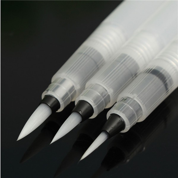 S/M/L 3 Sizes Refillable Water Brush Pen For Painting Calligraphy Tools