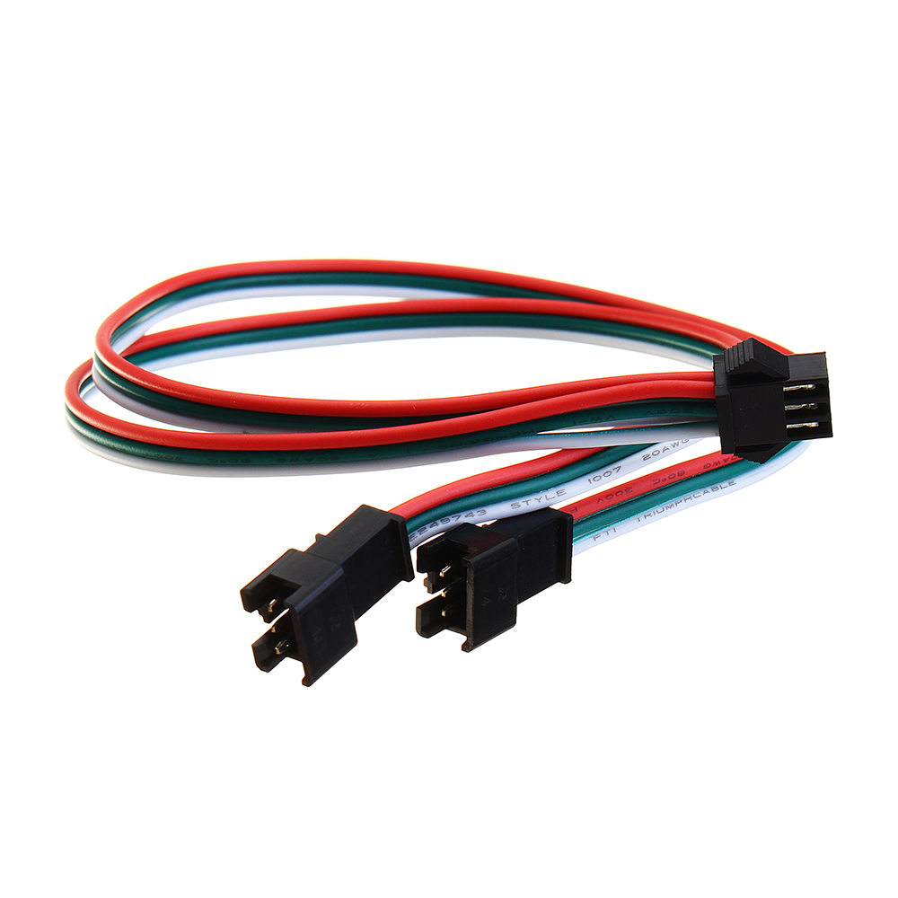 30CM 3Pin Extension Cord SM One Female To Two Male Connectors for Magic LED Strip Light